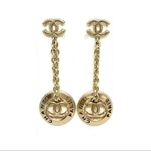 CHANEL Soft Gold Chain Coin Dangle Rare Brand New